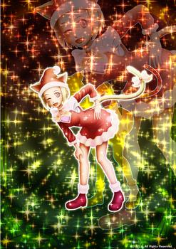 「クリスマス猫さん」07「オリジナルトレカ」02「クリスマスSPキラキラバージョン」