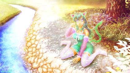 「緑猫さん2014」05(作品ベース完成).jpg