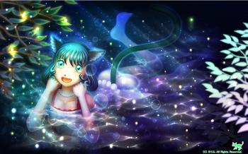 「緑猫さんの半身浴」05(ファンタジー)